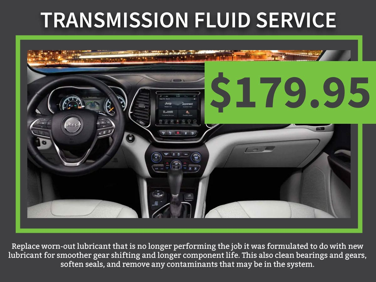 Transmission Fluid Exchange Service Change Coupon