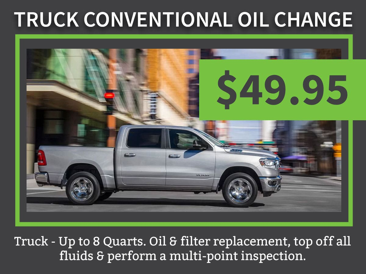 Conventional Truck Oil Change Coupon