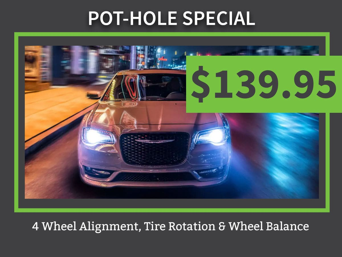Pot Hole Special Tire Service Coupon