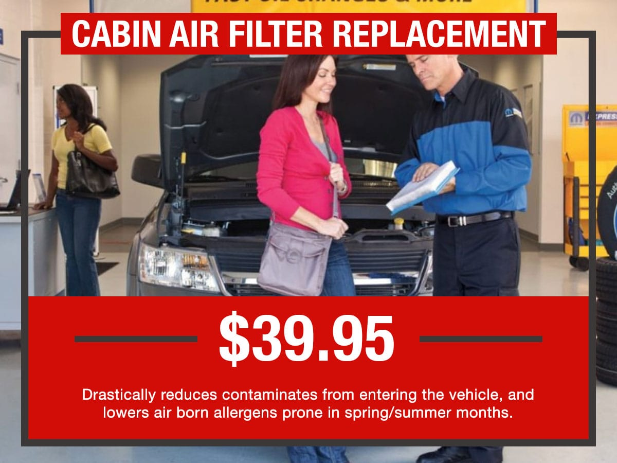 Russ Darrow Cabin Air Filter Replacement Service Special Coupon