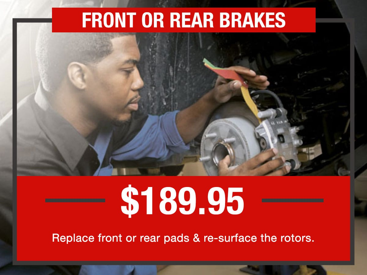Russ Darrow Front or Rear Disk Brakes Service Special Coupon