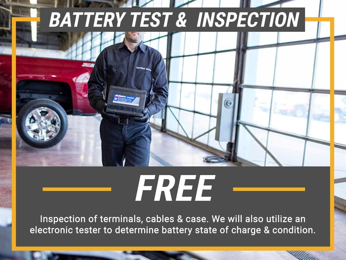 Service Battery Charging System >> Chevrolet Battery Test Inspection In Lansing Mi Feldman Chevrolet