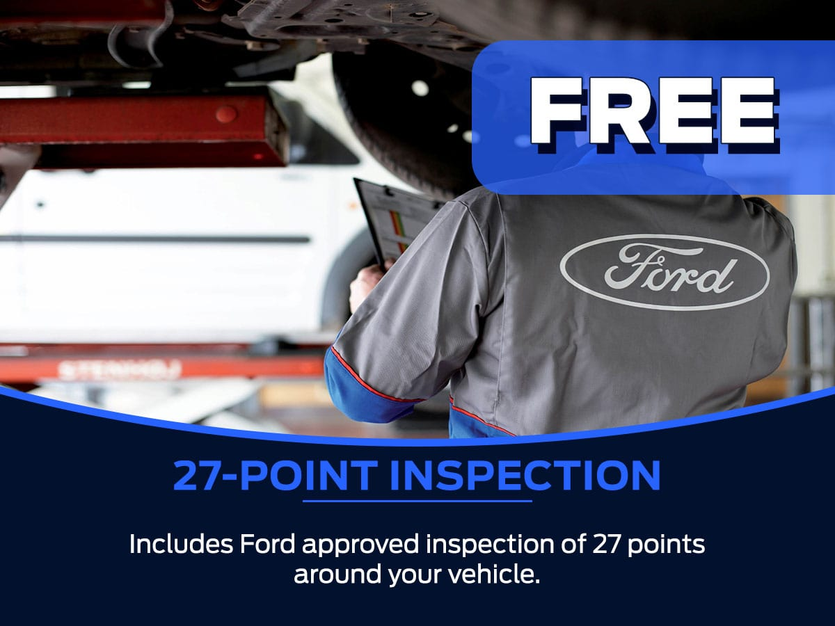 Sam Pack's Five Star Ford 27-Point Inspection Service Special
