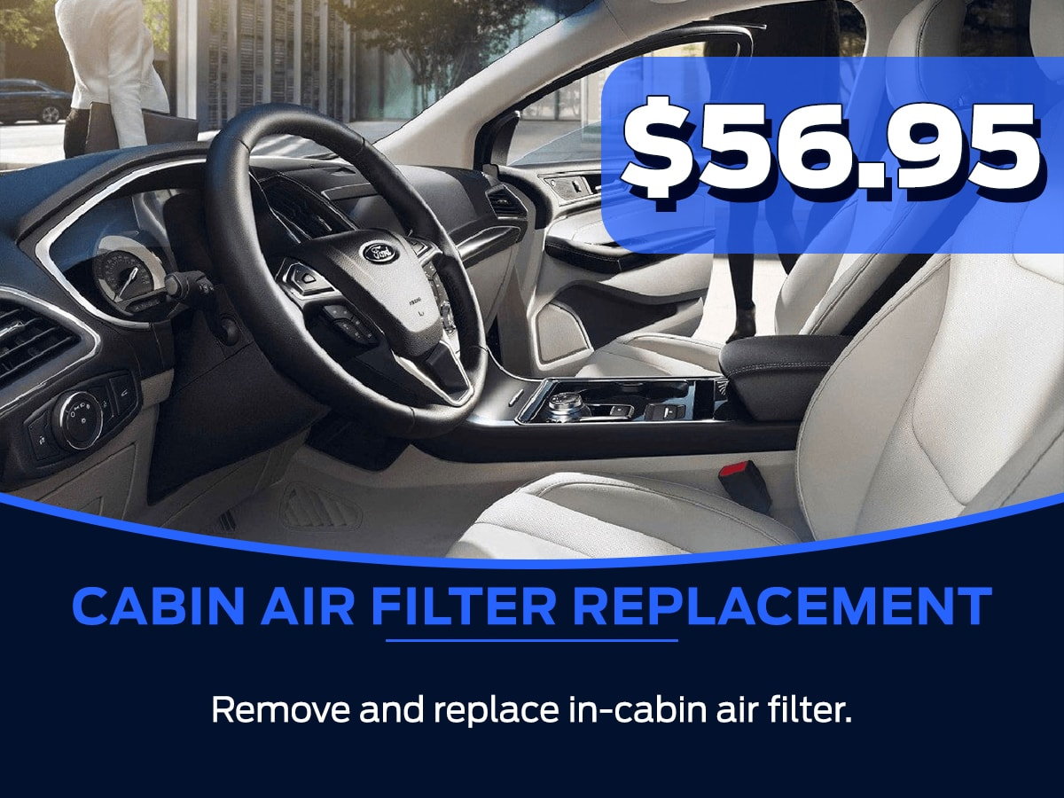 Ford Cabin Air Filter Replacement Service Special