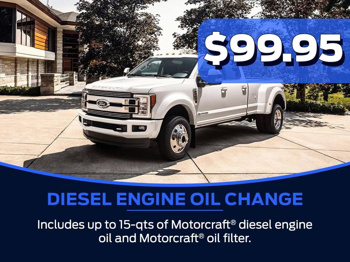 Sam Pack's Five Star Diesel Engine Oil Change Service Special