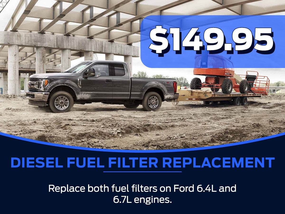 Sam Pack's Five Star Ford Diesel Fuel Filter Replacement Service Special