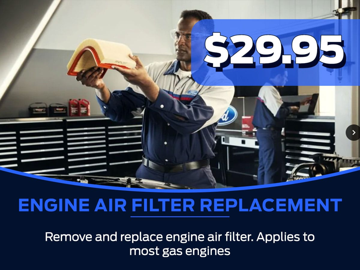 Sam Pack's Five Star Ford Engine Air Filter Replacement Service Special