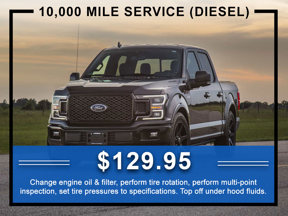 Awesome Ford 10,000 Mile Diesel Service Coupon