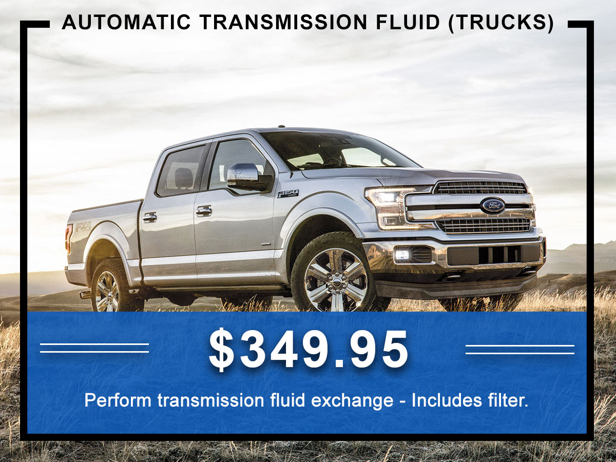 Awesome Ford Automatic Transmission Fluid Exchange Coupon