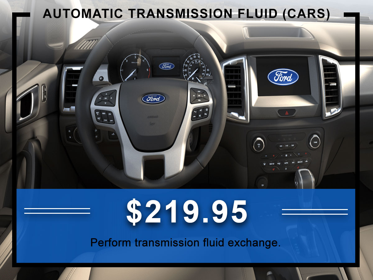 Awesome Ford Automatic Transmission Fluid Exchange Car Coupon