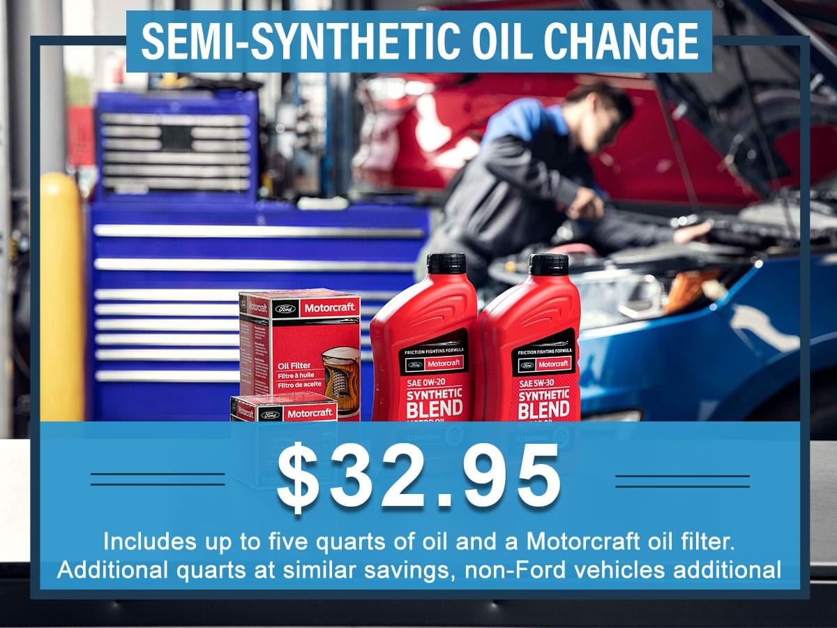 Ford Oil Change Coupon >> Semi Synthetic Oil Change Service Tindol Ford Gastonia Nc