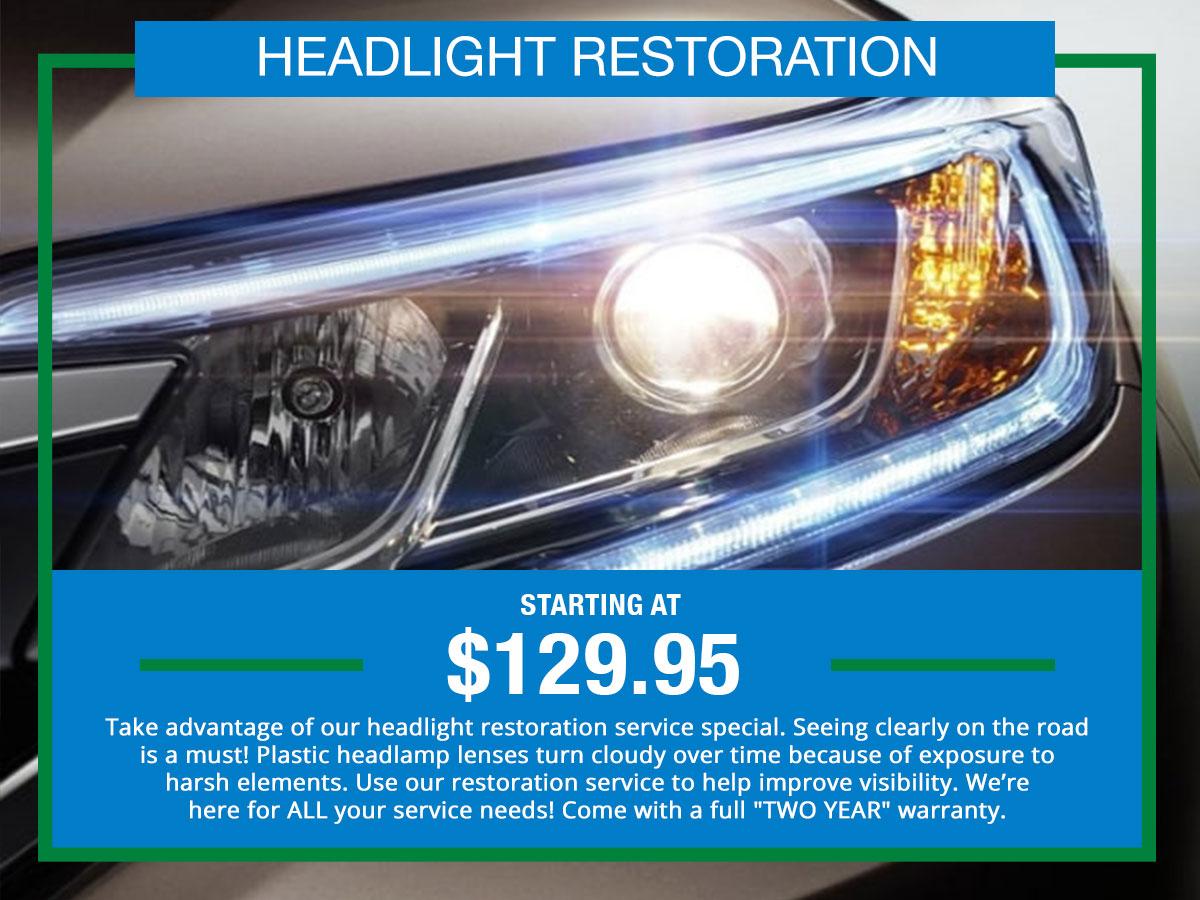 Headlight Restoration Special Coupon