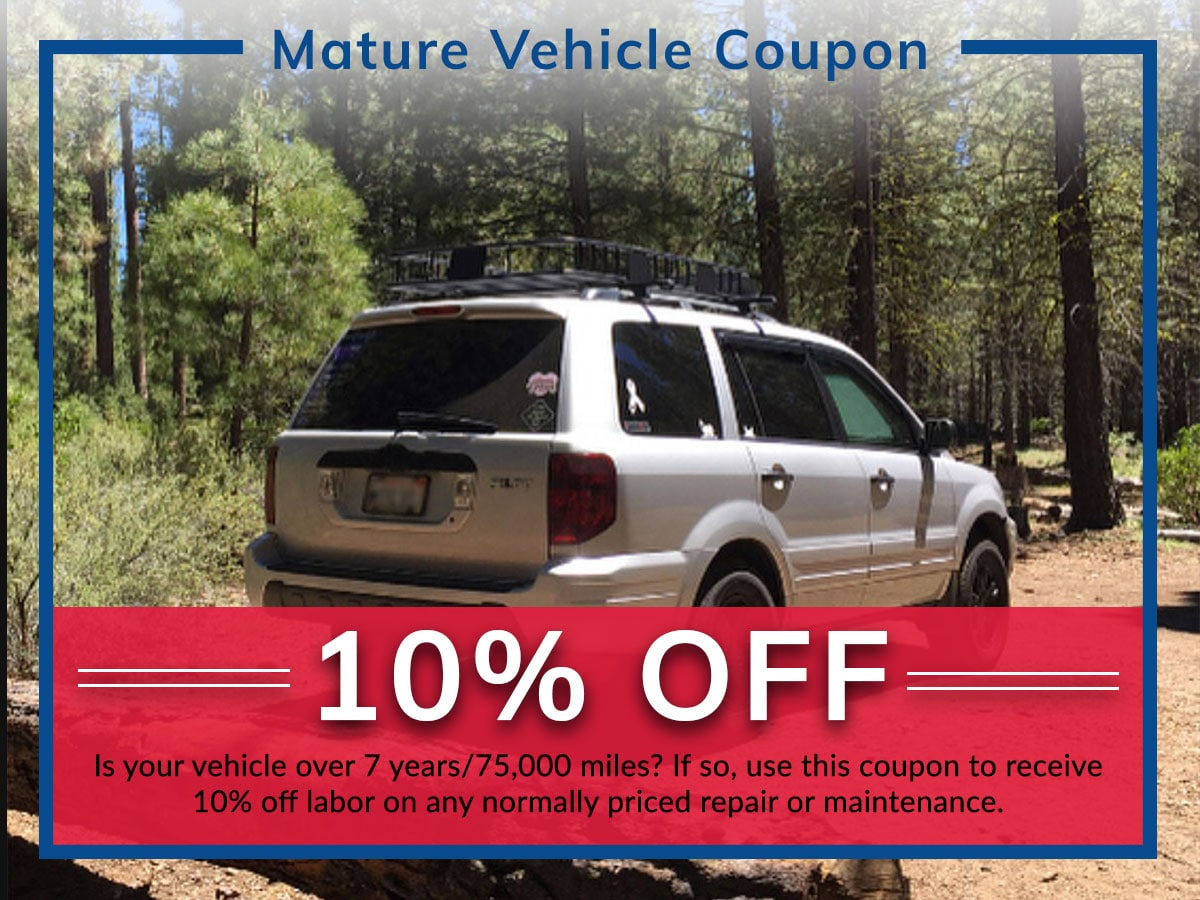 Mature Vehicle Coupon