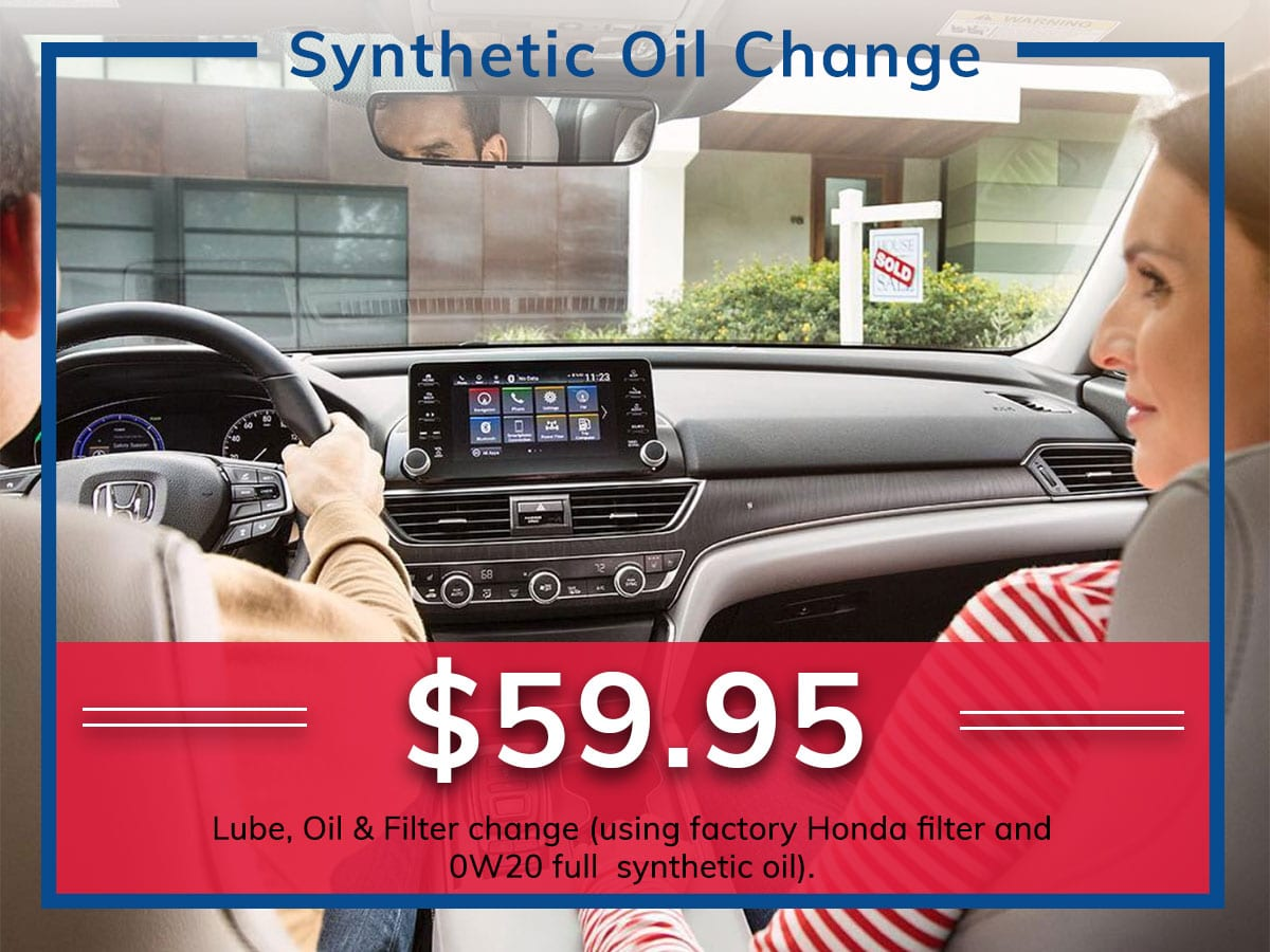 Honda Synthetic Oil Change Service Coupon Discount Special