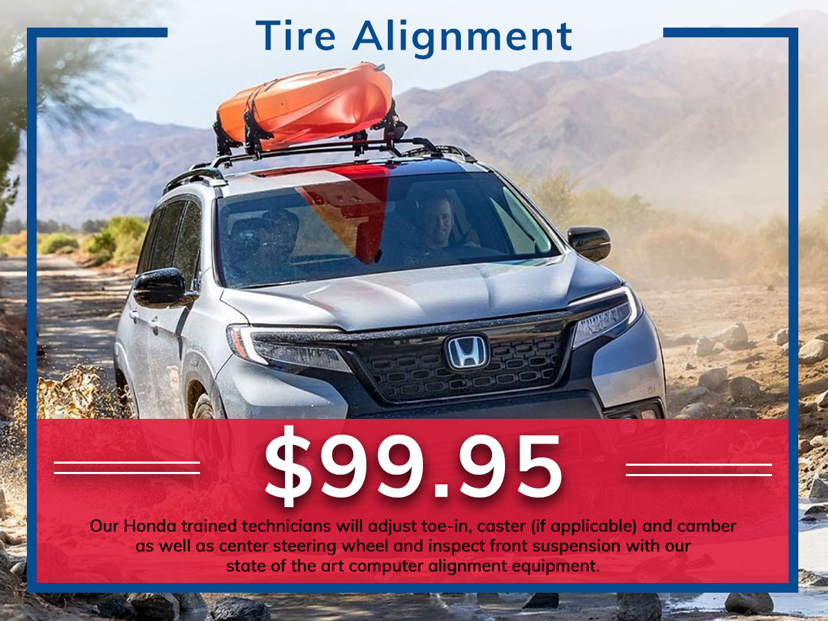 Honda 4-Wheel Alignment Service Coupon Discount Special