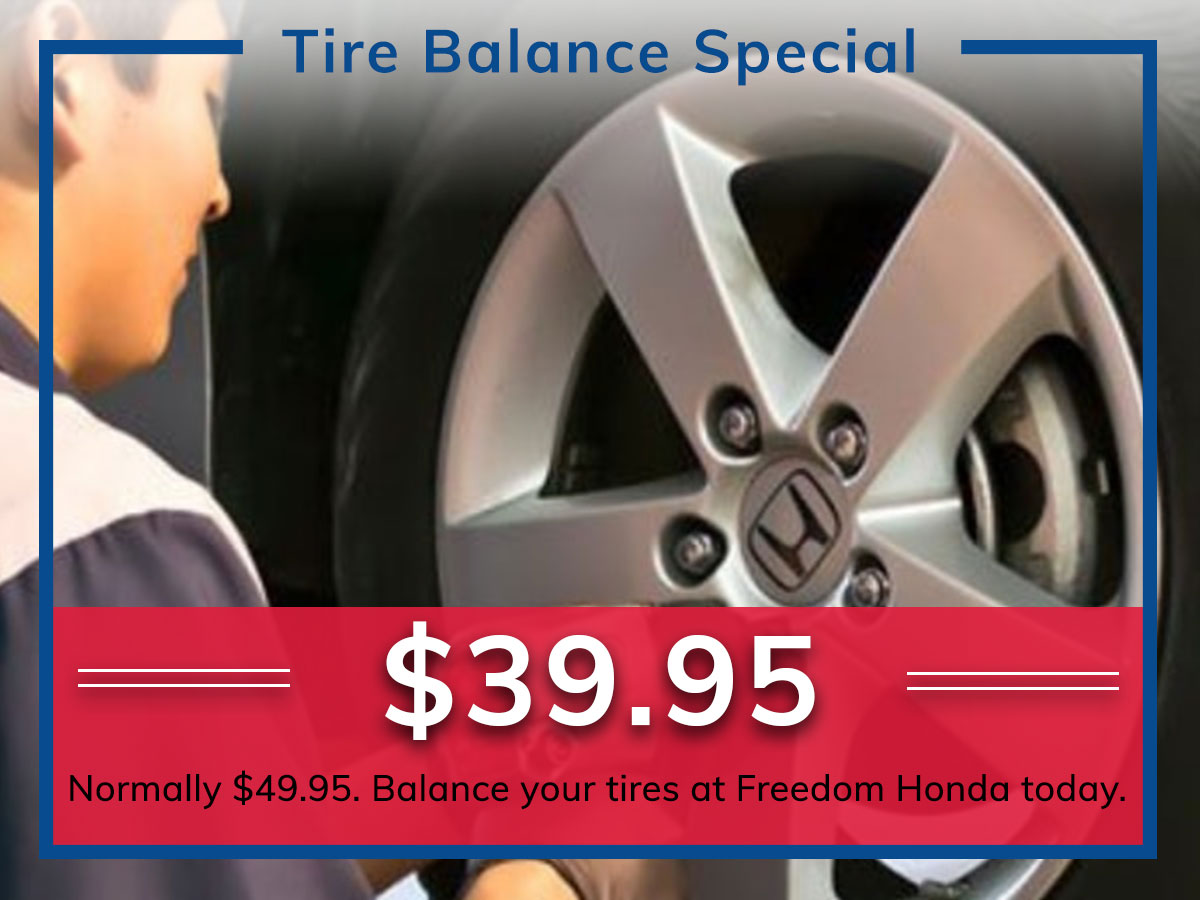 Tires Colorado Springs >> Tire Balance Service Freedom Honda Colorado Springs Co