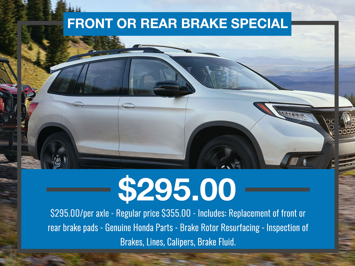 Front or Rear Brake Special Coupon