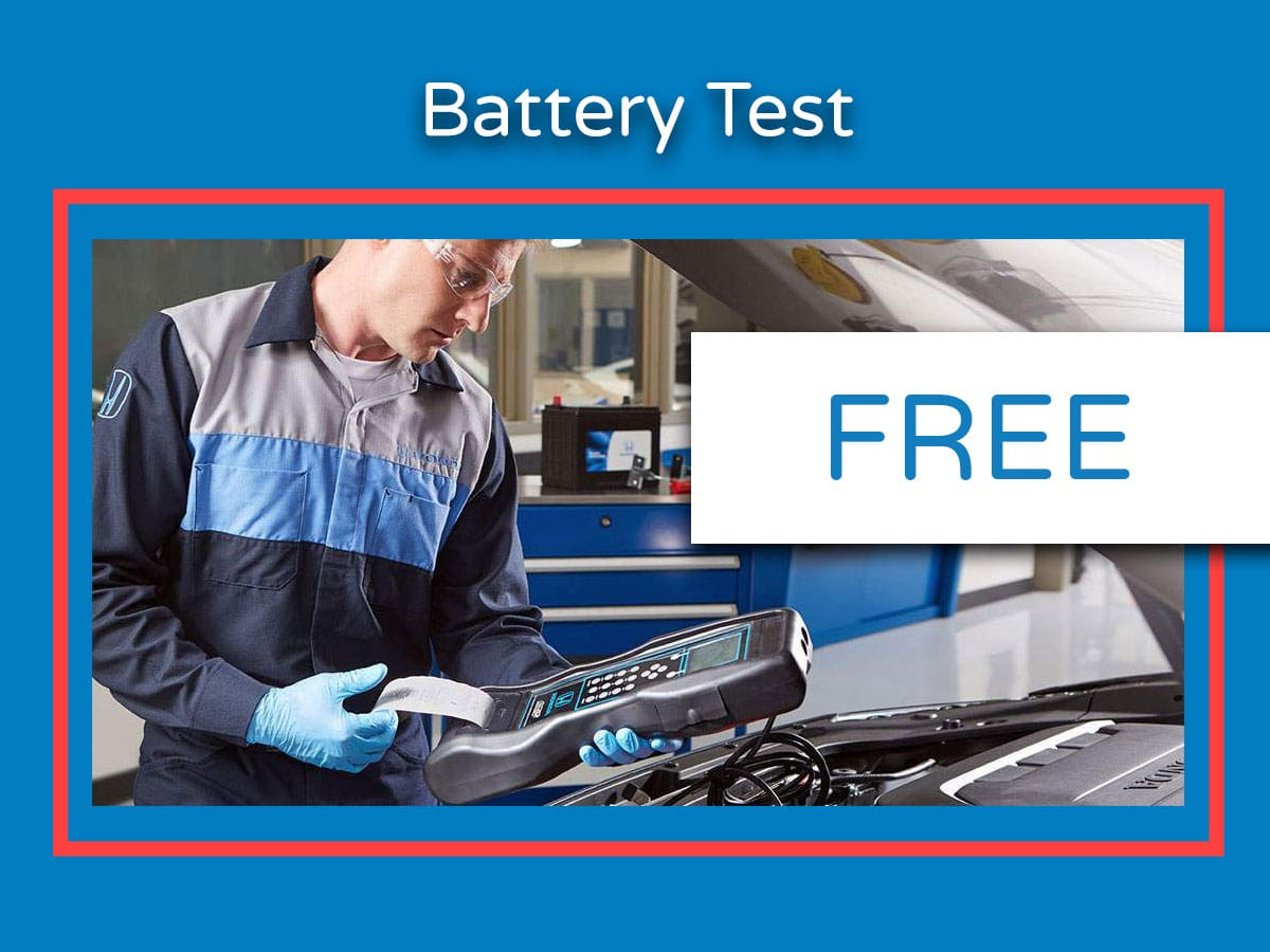 Honda Battery Inspection & Test  Coupon