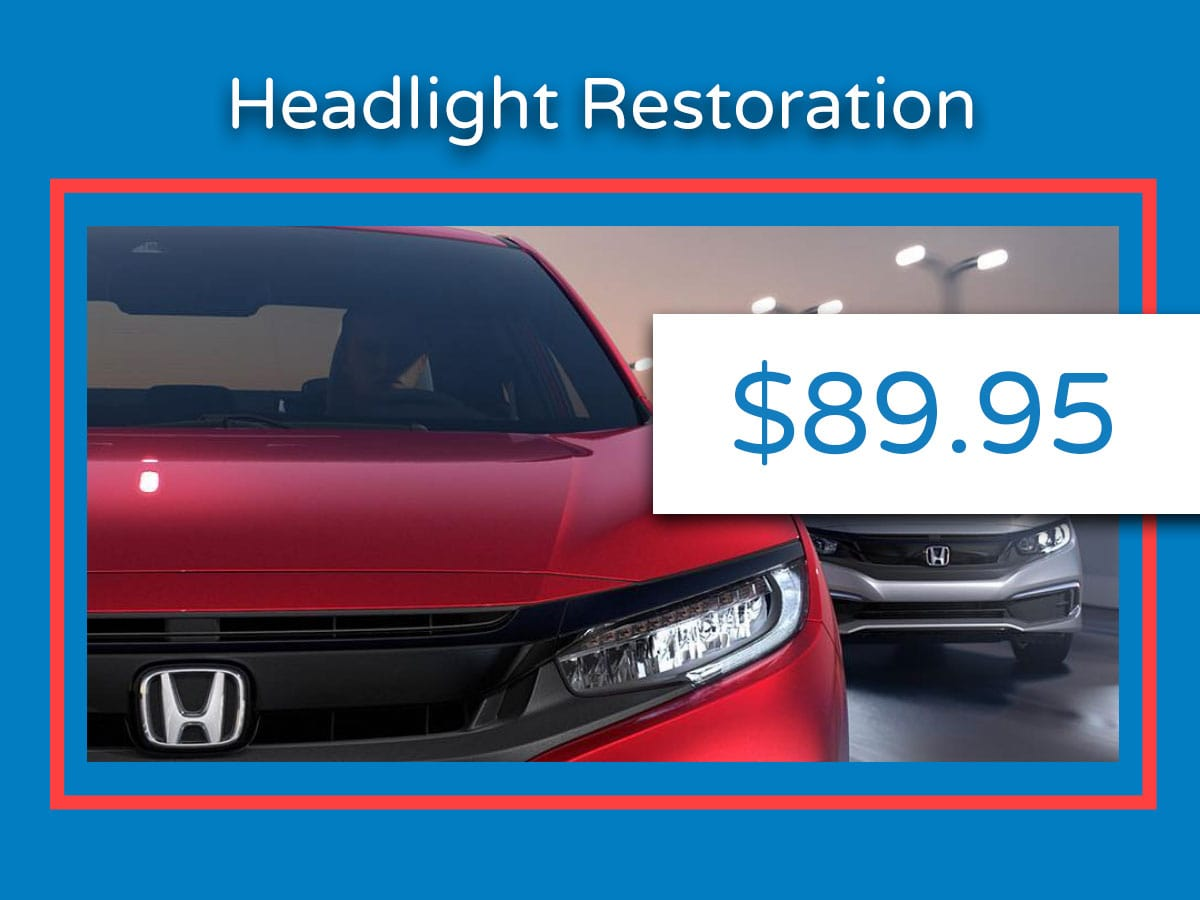 Headlight Restoration Resurfacing Service Coupon