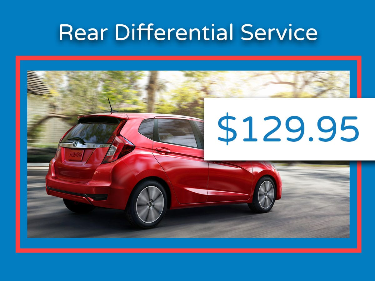 Honda Rear Differential Service Coupon
