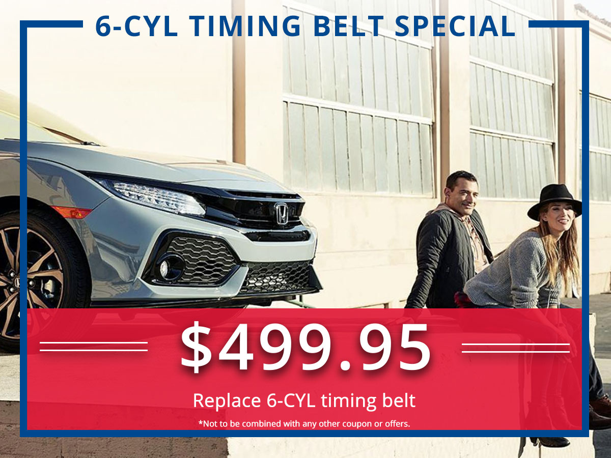 Surprise Honda Six Cylinder Timing Belt Service Coupon