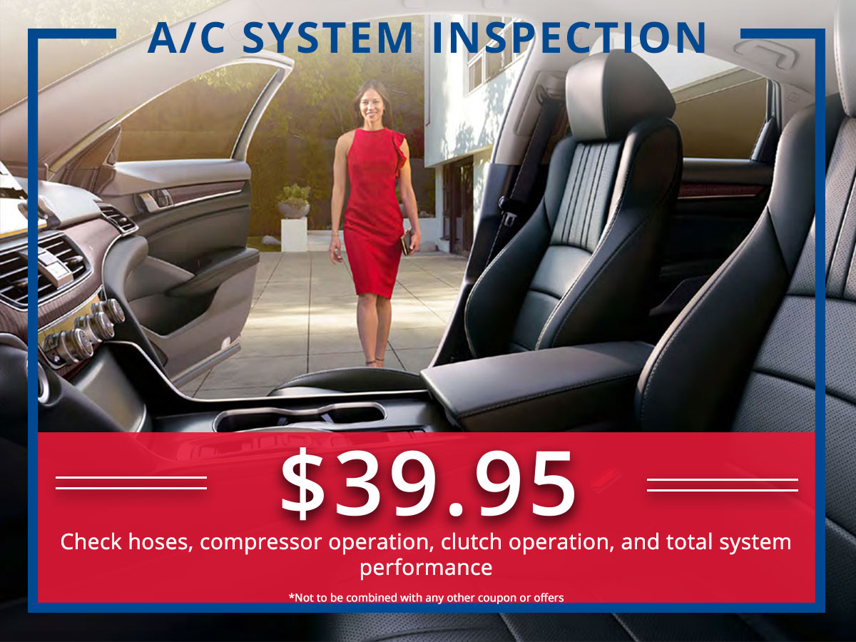Surprise Honda AC Service Coupon