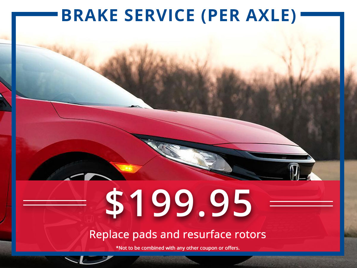 Surprise Honda Brake Service Coupon