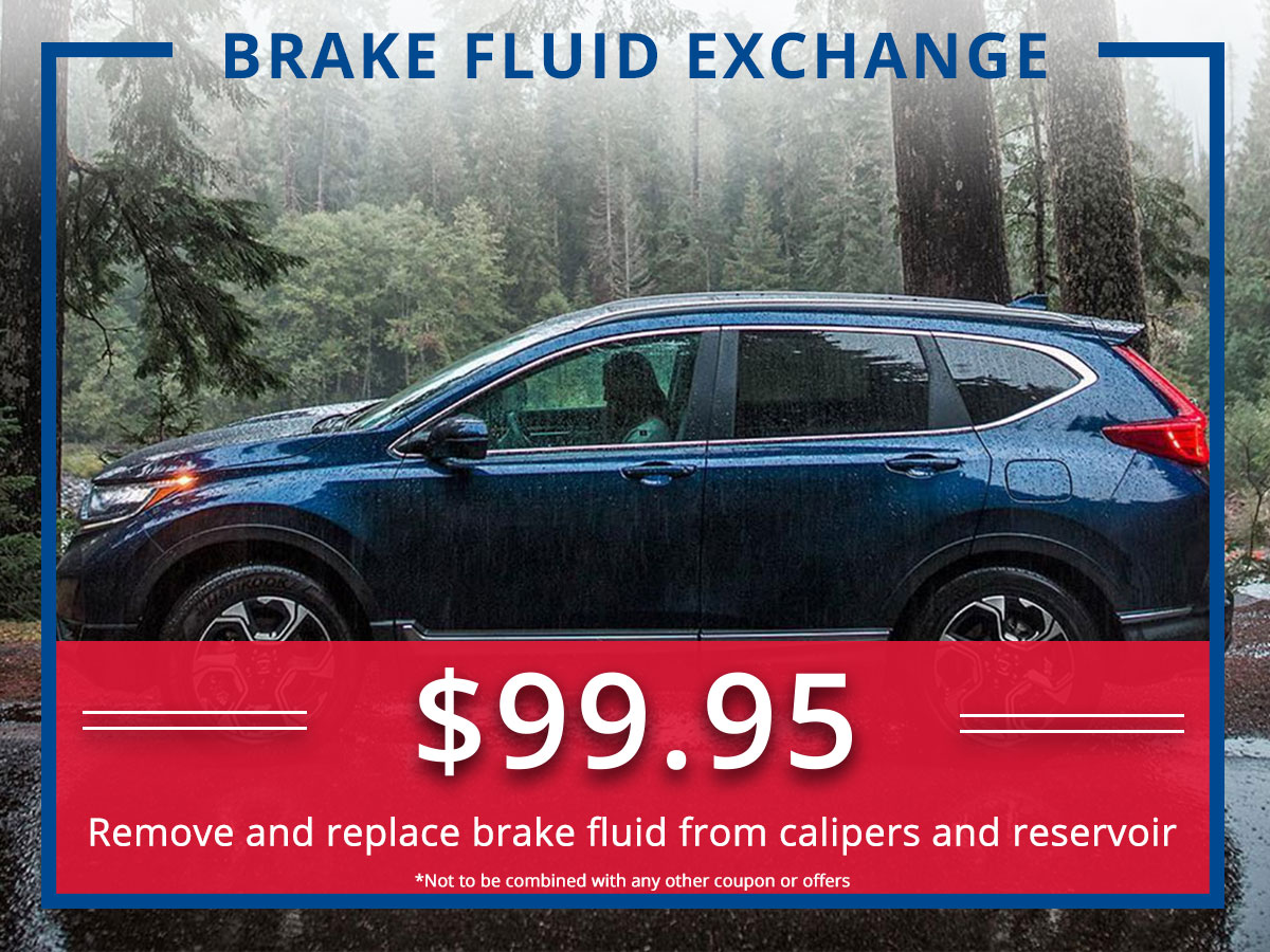 Surprise Honda Brake Fluid Exchange Service Coupon