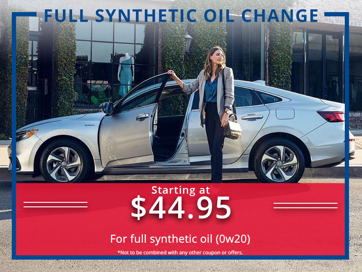 Surprise Honda Full Synthetic Oil Change Coupon