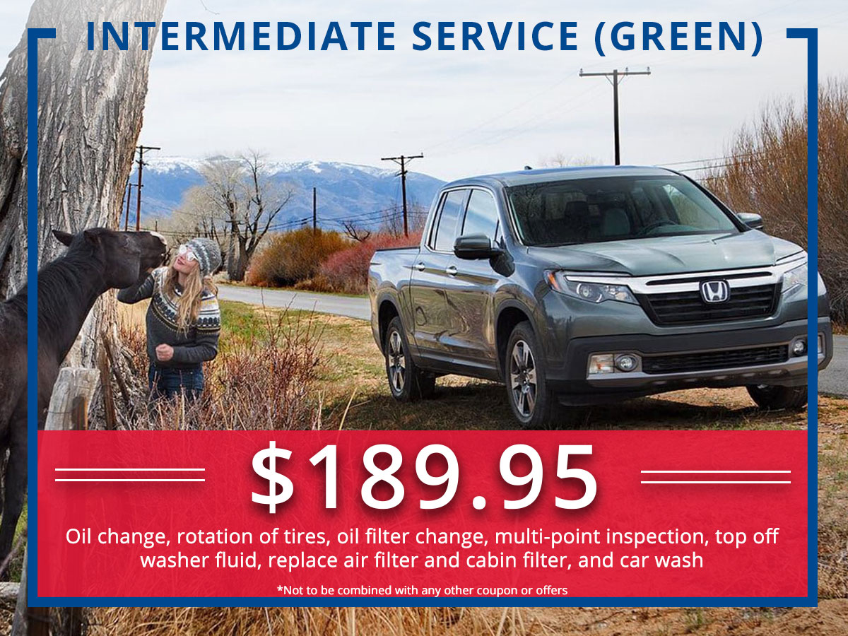 Surprise Honda Intermediate (Green) Service Coupon