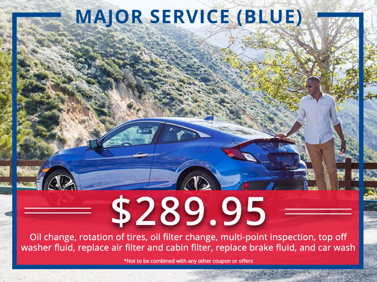 Surprise Honda Major (BLue) Service Coupon