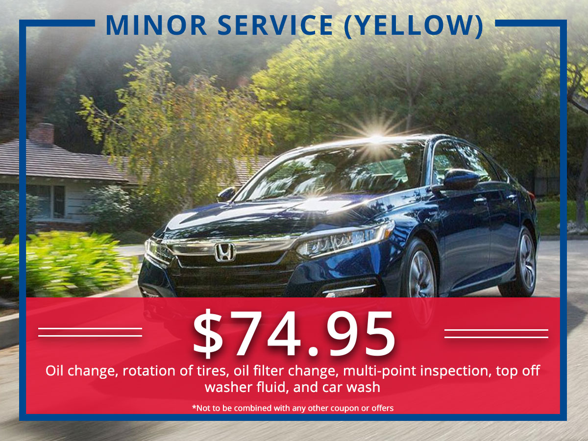 Surprise Honda Minor (Yellow) Service Coupon