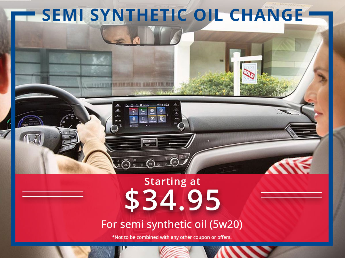Surprise Honda Semi Synthetic Oil Change Coupon
