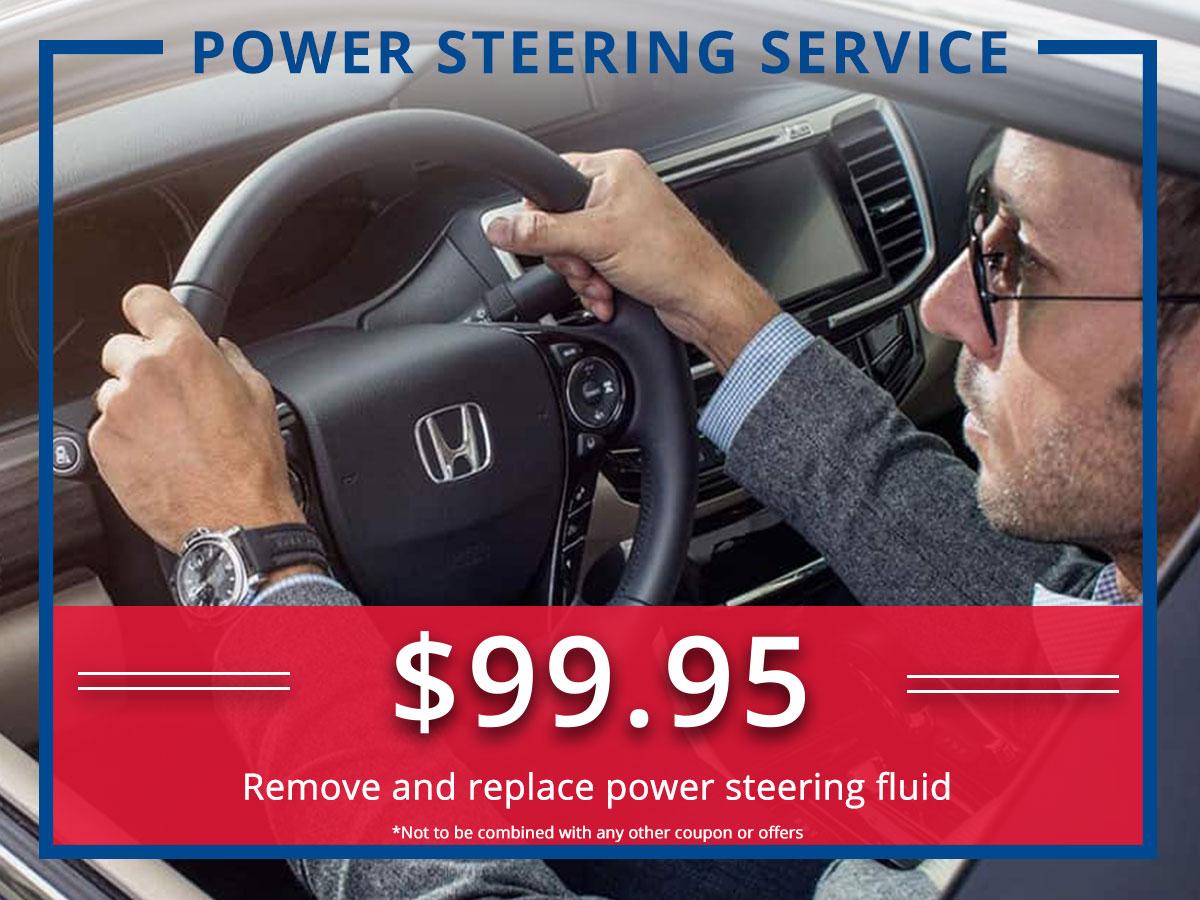 Surprise Honda Powering Steering Service Coupon