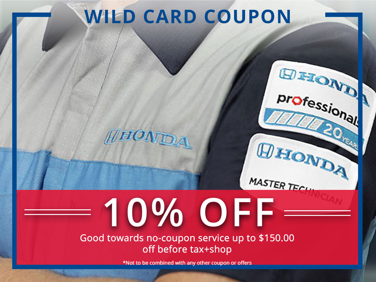 Surprise Honda Wild Service Coupon
