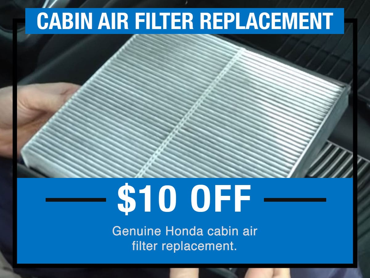 Tom Wood Honda Service Specials Coupon Cabin Air Filter Replacement of Anderson, IN