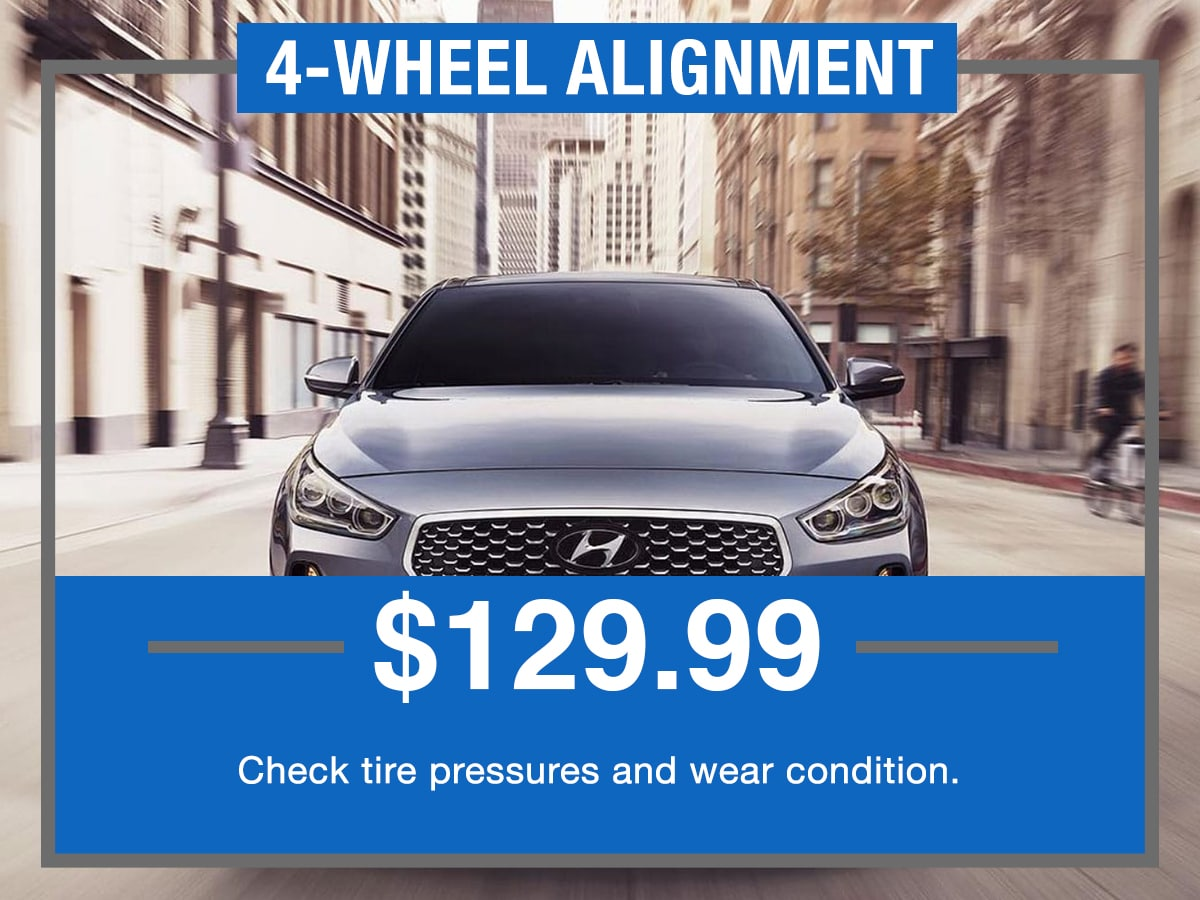 4 Wheel Alignment Service Special Coupon Hiley Hyundai of Burleson