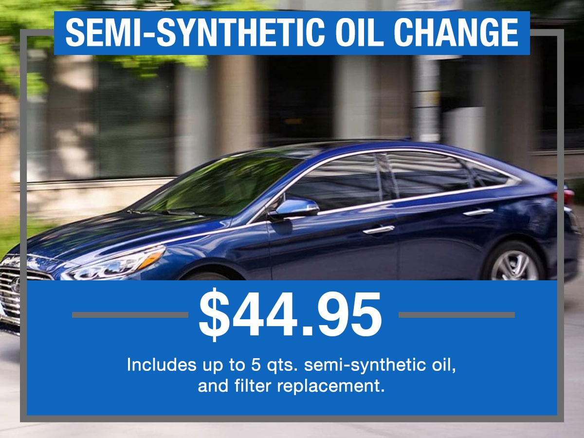 Semi-Synthetic Oil Change Service Special Coupon Hiley Hyundai of Burleson