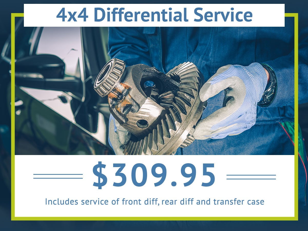 4 by 4 Differential Service Special Coupon