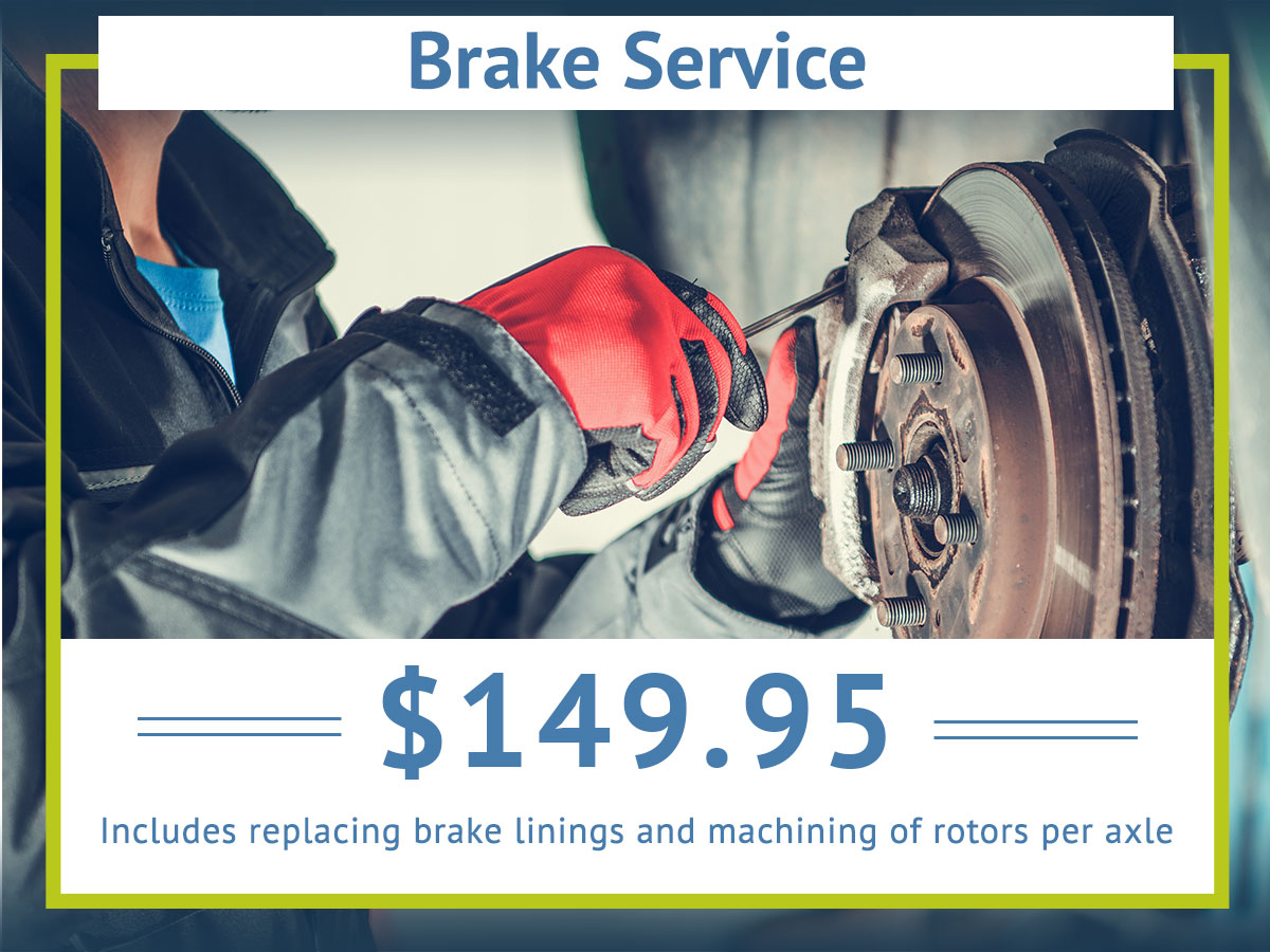 Complete Front Brake Service Special Coupon
