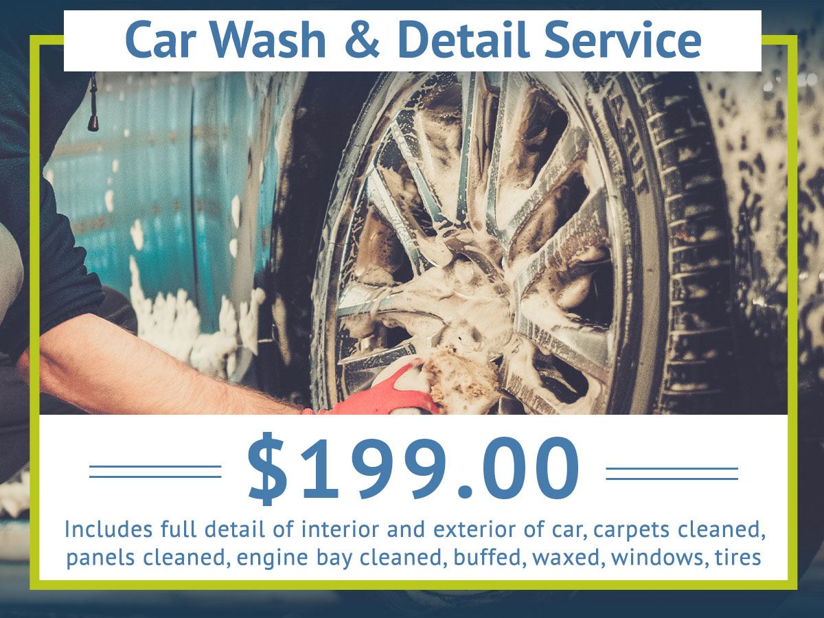 Car Wash Detail Service Special Coupon