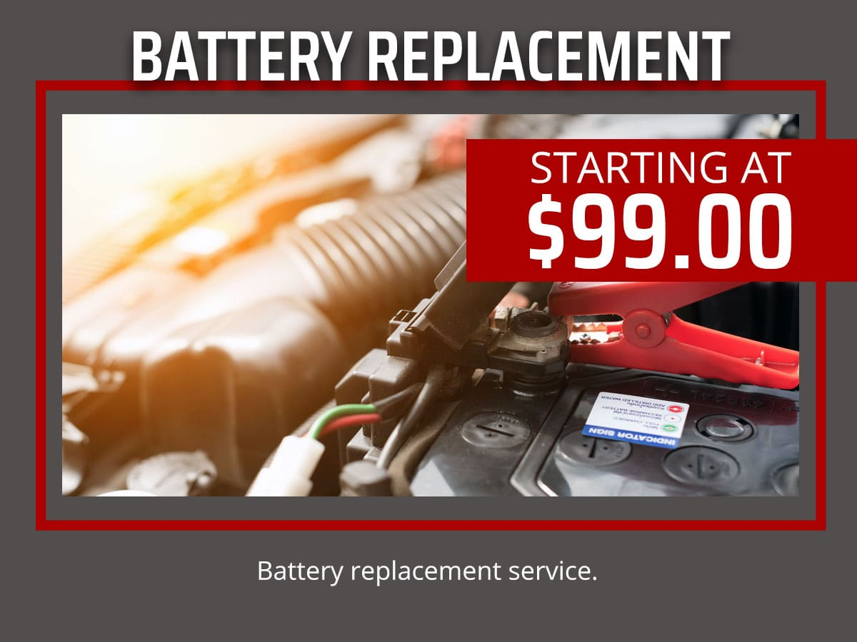 Car Battery Replacement Service Coupon
