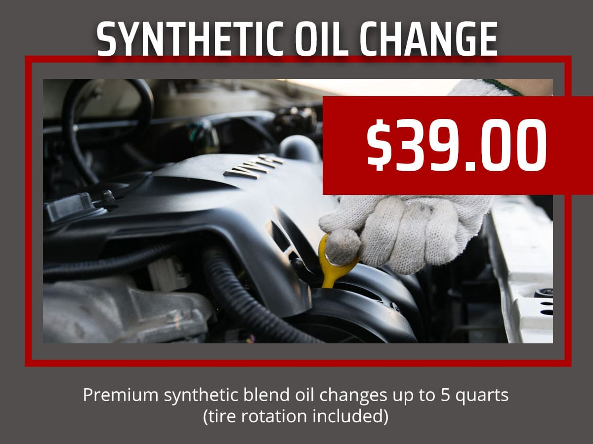 Synthetic Blend Oil Change Coupon