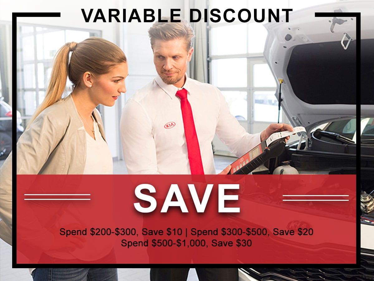 Kia Variable Discount Service Coupon | Allentown, PA