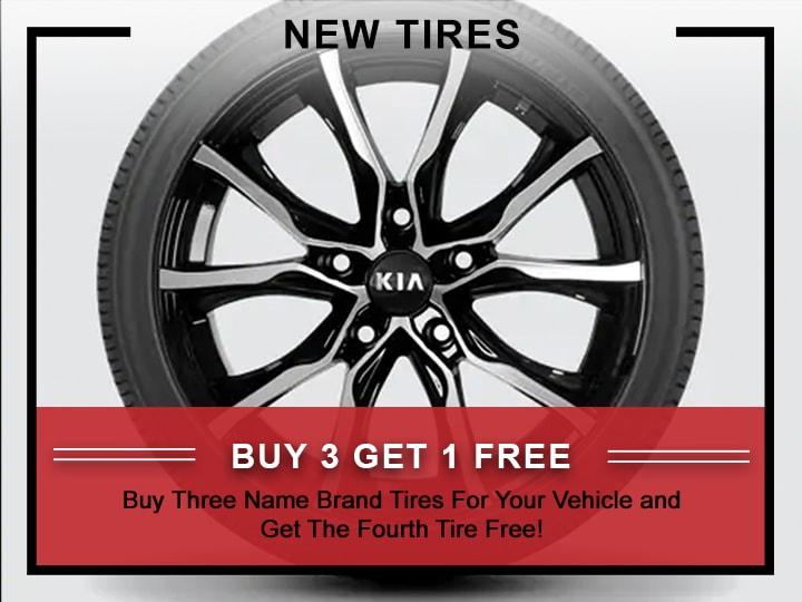 Kia Buy 3 Tires Get the 1 FREE Coupon | Allentown, PA