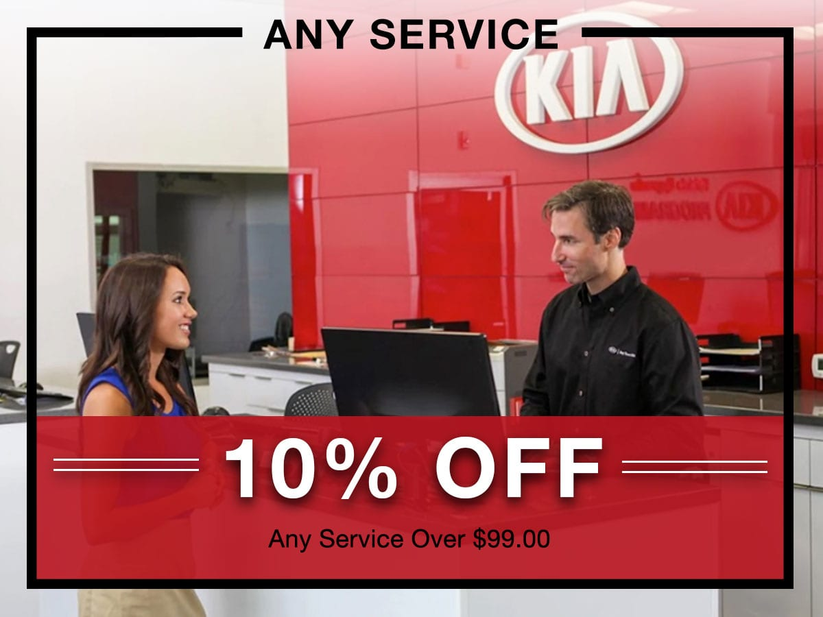 10% off any service at Briggs Kia