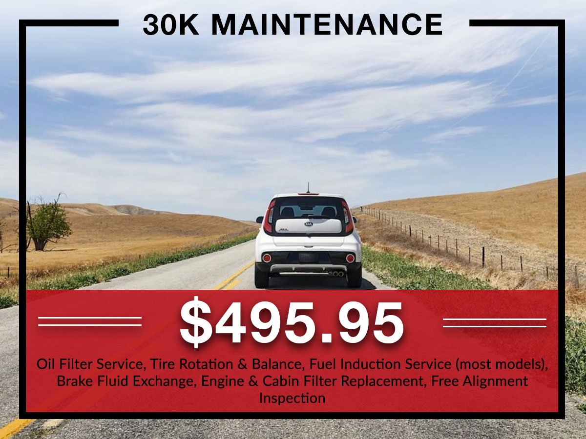 30k maintenance service at Briggs Kia