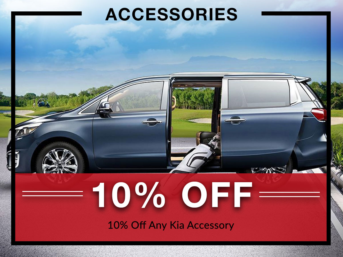 10% off Kia accessories from Briggs Kia