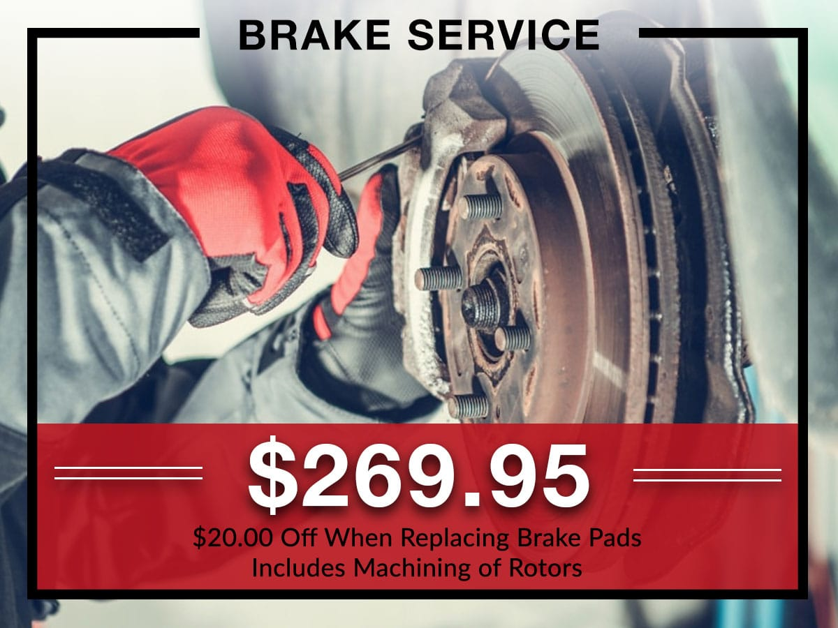 Brake service coupon from Briggs Kia