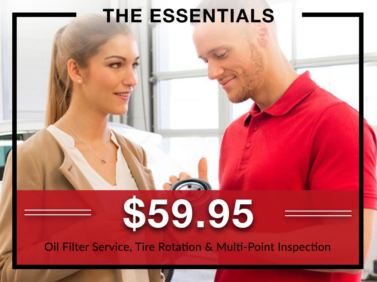 Oil filter service, tire rotation, and multi-point inspection service coupon from Briggs Kia